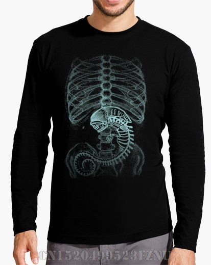Winter Favourite t-shirts Long Sleeve homme Alien Radiography Novelty Long Knitted 3d tees men Clothing