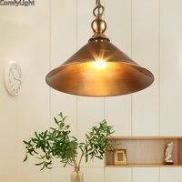 Медь подвесной светильник промышленное освещение держатель Ретро повесить светильник подвесной светильник Эдисон лампа столовая/Кофе Аме