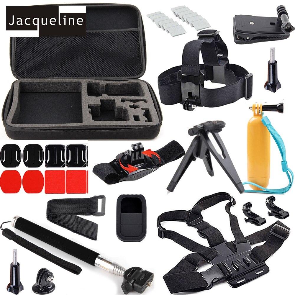 Jacqueline pour surf Kit pour GoPro Hero Kit sac monture monopode Pole Grip pour Go Pro Hero 6 5 HD 3 + 3 2 4 pour SJ4000