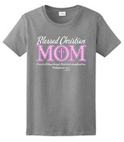Mom Gift Blessed Christian Mom Mothers Day Ladies T Shirt