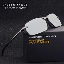 Diseño de marca de Aluminio Polarizadas gafas de Sol de Los Hombres uv400 Gafas Sin Montura gafas de Conducción Gafas Deportivas Al Aire Libre gafas de sol hombre