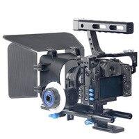 Профессиональная ручка цифровой однообъективной зеркальной камеры каркас для крепежа видеокамеры комплект стабилизатор + непрерывного из