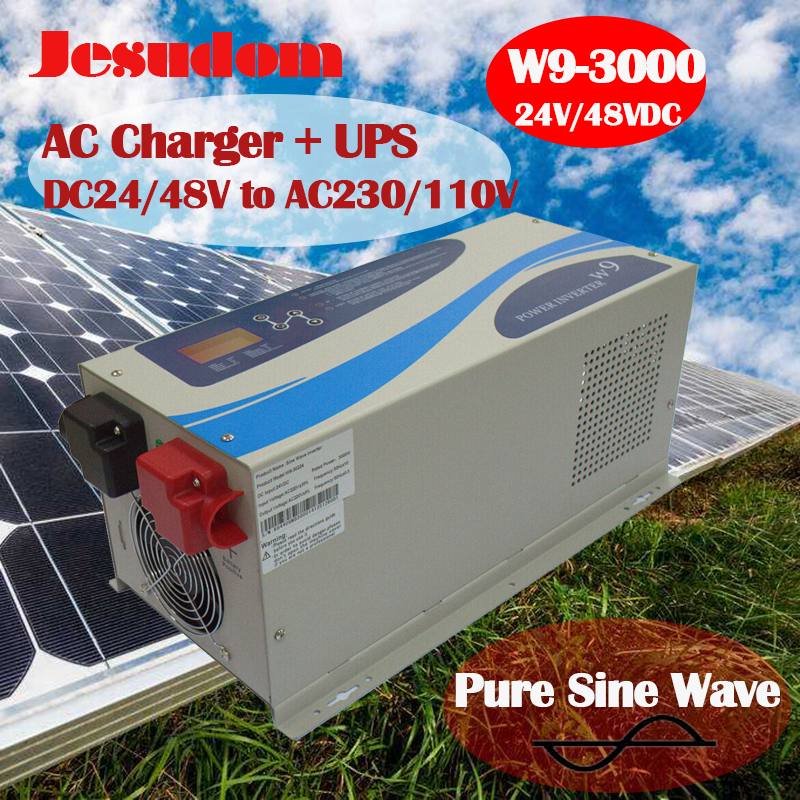 Solar Inverter Of 3000W Pure Sine Wave Off Grid DC 12 24 48V to AC 110