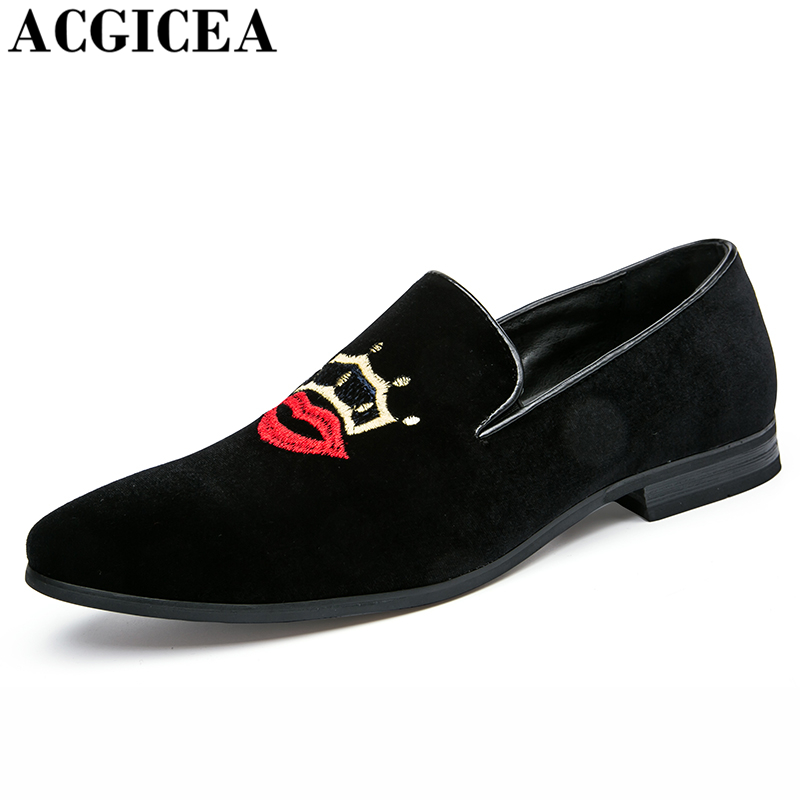 ACGICEA British Fashion Pointed Toe Men Leather Shoes Slip On Non-slip Noble Elegant Wedding Shoes Causal Dress Shoes Size 38-43