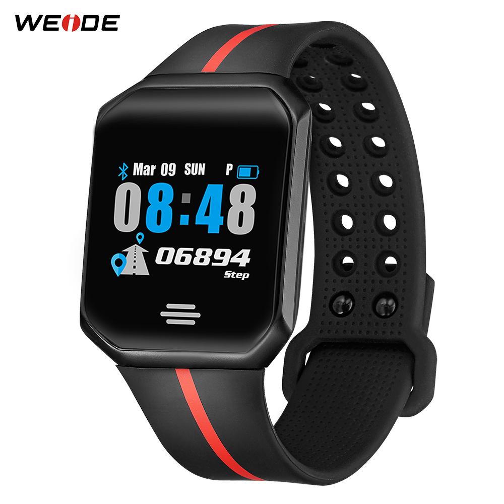WEIDE Bluetooth Digital Clock Android Phone Call Heart Rate Brood Pressure Step Sleeping distance monitoring Alarm Wrist Watches(China)