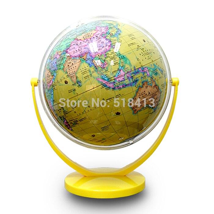 Inclinaison de universel Dia 20 cm Hd océan politique jaune en chinois et anglais terrestre Globe étudiant éducatif
