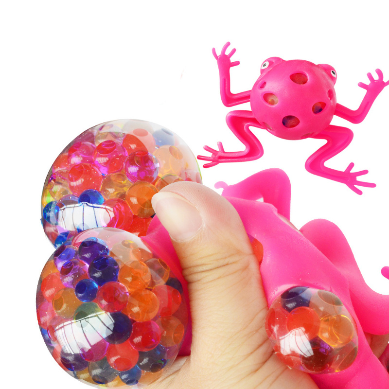 New Creative Styling Vent Toys Color Beads Frog Pinch Music Children Decompression Vent Toys party favors guest gifts