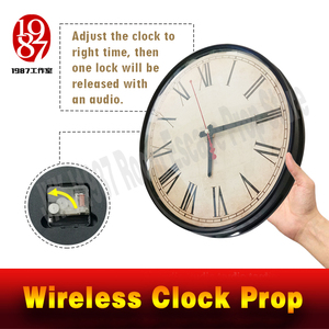 Image 3 - Room escape clock prop JXKJ1987 wireless clock prop put the right time to unclock Takagism game real life escape room puzzle