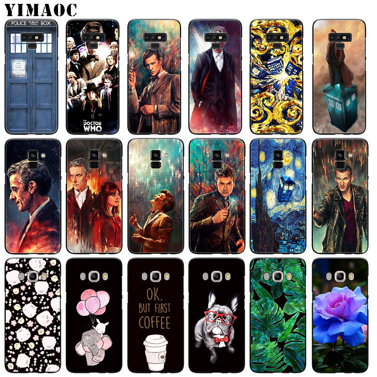 Cellphones & Telecommunications Phone Bags & Cases Industrious Yimaoc Tardis Box Doctor Who Soft Silicone Case For Samsung Galaxy A6 Plus A9 A8 A7 2018 A3 A5 2016 2017 Black Note 9 8 Cover Attractive Appearance
