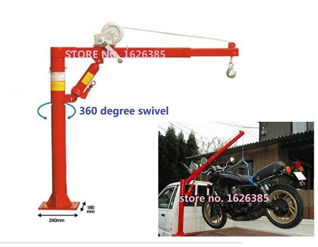 1000lb/500 Kg Auto Hydraulische Kraanwagen Motor Lifting Ankerlier Auto Motor Kraanbalkkraan Band Reparatie Tool Volume Groot