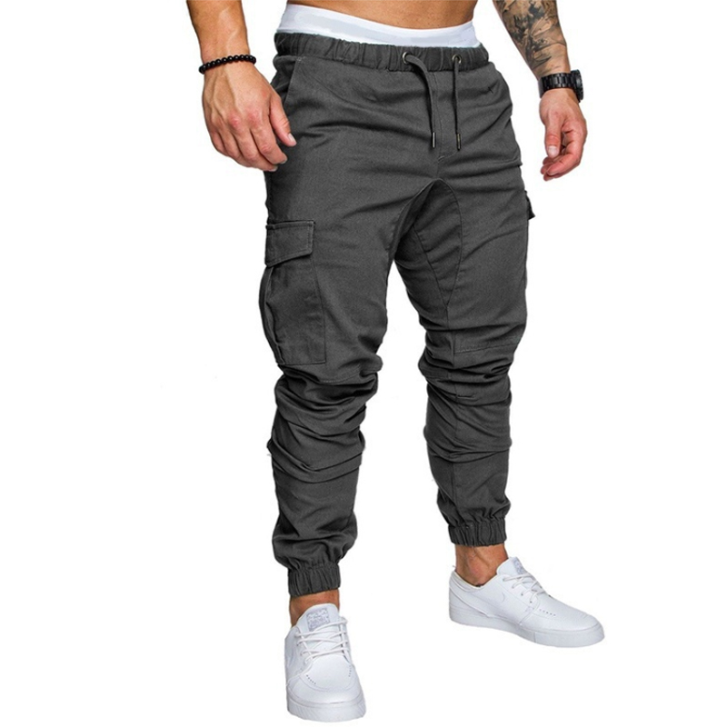 2019 Men Pants Fashion Brand Tooling Pockets Joggers New Pants Male Trousers Casual Mens Joggers Solid Pants Sweatpants M-4XL