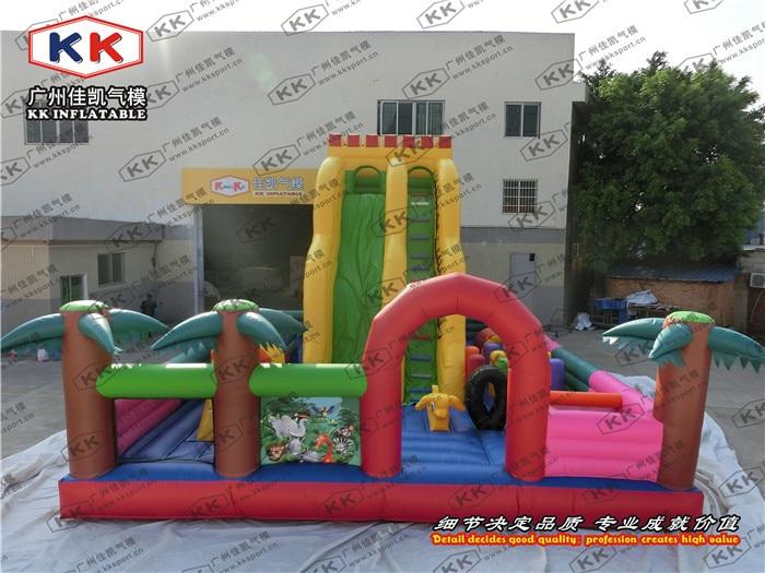Детей играть в игры, надувные парк развлечений с горкой надувные развлечения города ...