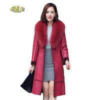 Autumn Winter Sheepskin Women Jacket 2017 New Fashion High Quality Comfortable Temperament Women Genuine Leather LH50