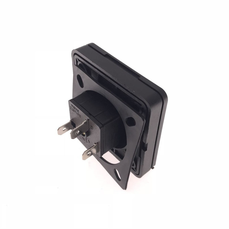 US NEMA 5 15R Waterproof Industrial Safety Socket 15A 125V IP44 AC Power Connector Plug Electrical Socket With cover in Electrical Sockets from Home Improvement