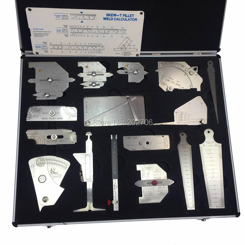 Welding Gauge Tool Kit Gage Inspection Ruler Case Box In INCH Measuring For Sale