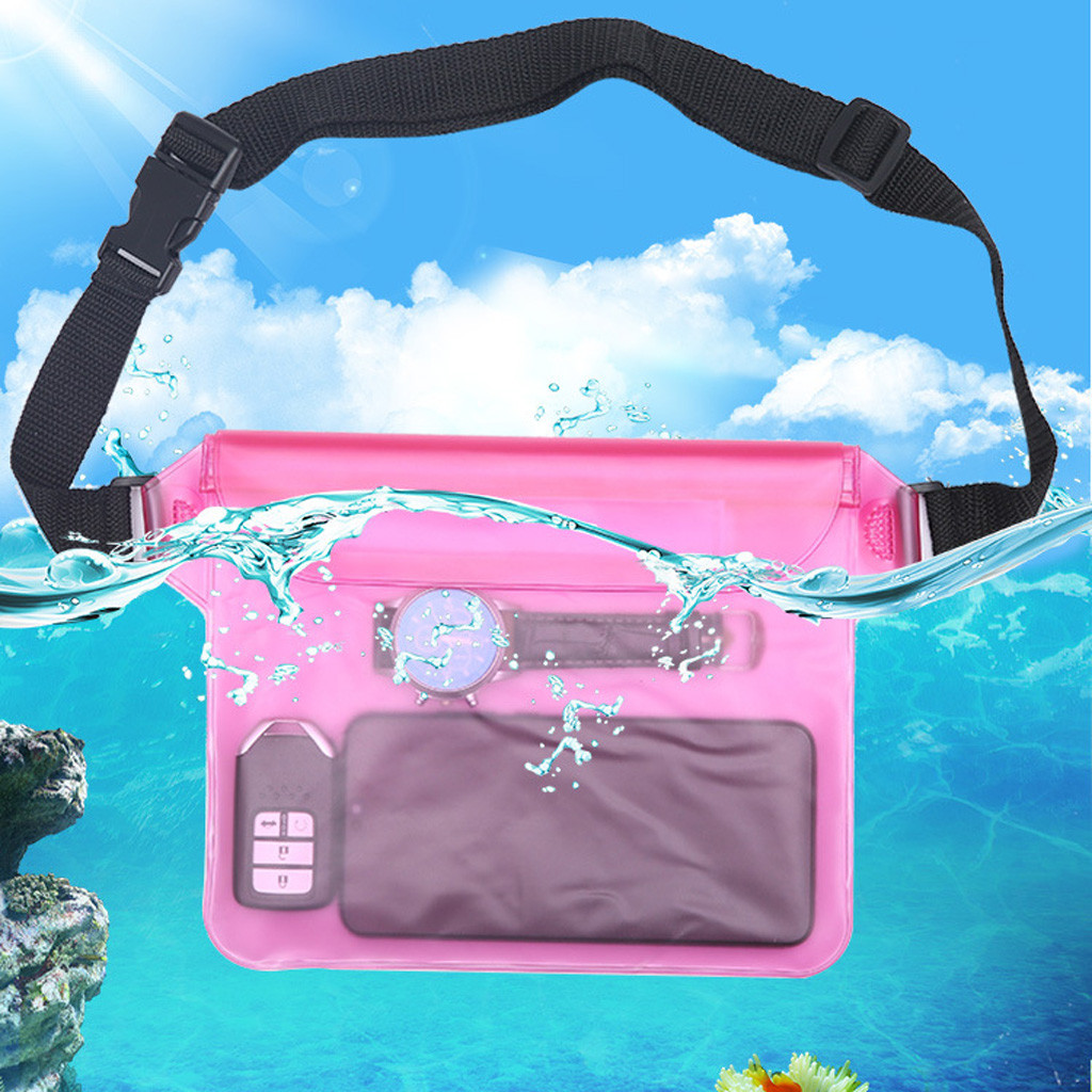 Waterproof Pouch 25×22cm Green White Waterproof Waist Pouch Bag Underwater Dry Case Cover For IPhone Cell Phone Swimming Bag #20