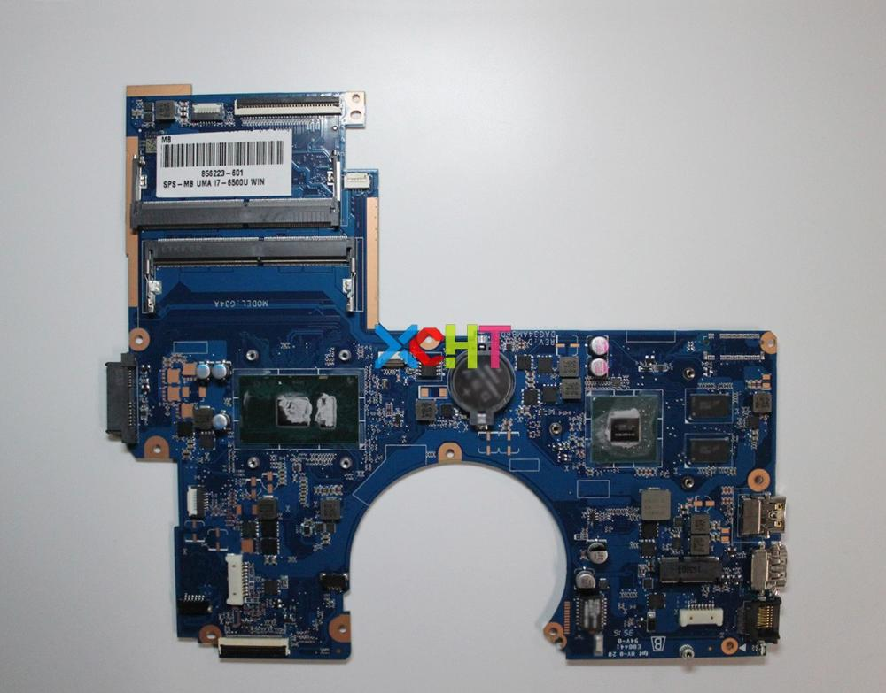 for HP Pavilion Notebook 15 15 A 15T AU000 Series 856223 601 856223 001 UMA i7 6500U Laptop Motherboard Tested & working perfect-in Laptop Motherboard from Computer & Office
