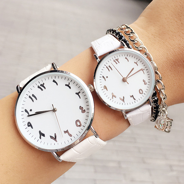 Fashion Genuine Leather Arabic Numbers Women Elegant Quartz Watch 2017 Luxury BG