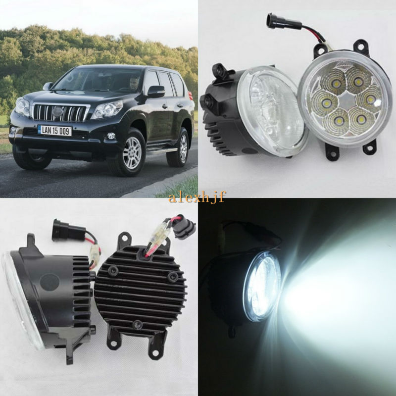 July King 18W 6500K 6LEDs LED Daytime Running Lights LED Fog Lamp case for Toyota Land Cruiser Prado 2010~ON, over 1260LM/pc july king 18w 6500k 6leds led daytime running lights led fog lamp case for toyota innova 2012 over 1260lm pc