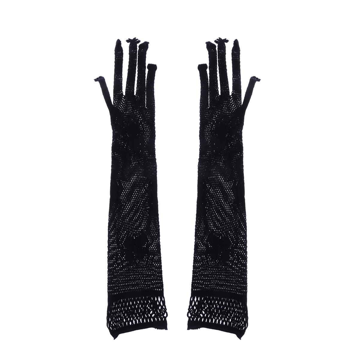 1 Pair Women Cosplay Gloves Noble Mysterious Black Lace Long Gloves For Costume Party Halloween Girls Cosplay