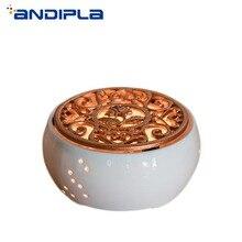 Креативный белый керамический свечной обогреватель, чайник, нагревательная база, вареный цветок, чай с подогревом, изоляционная база, аксессуары для чая, кофейник