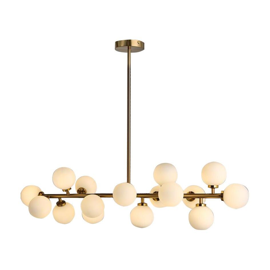 Doprava zdarma Moderní LED lustry 16 světel G4 3W Retrofit bronzové opálové sklo lustrové světlo pro jídelnu Obývací pokoj