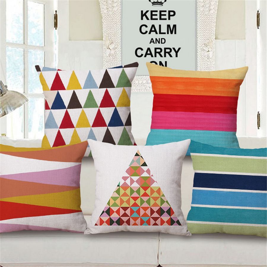 Geometric decorative pillows with filling for sofa coussin for Chaise decorative