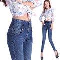 2016 Vaqueros de Las Mujeres de American Apparel Pantalones Lápiz Pies Delgados Pantalones Vaqueros Elásticos de La Cintura Señoras Al Por Mayor Pantalones de Mezclilla con Pechos Femeninos