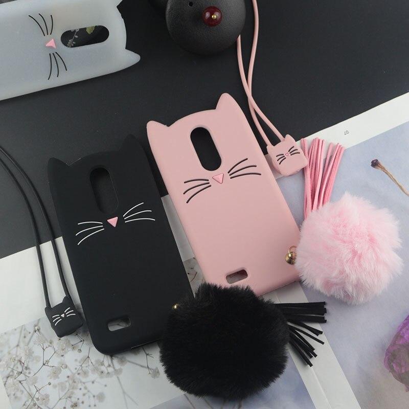 3D Cute Japan Lovely Cat Case For LG G6 G7 Stylus 4 Stylo 3 K4 K7 K8 K9 K10 K11 Pro X4 Aristo 2 Plus 2017 2018 Q + V20 V30 V40