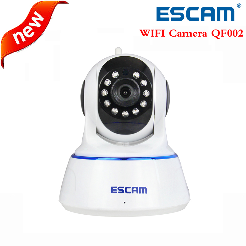 Escam 720P QF002 Indoor Network WIFI IP Camera infrared support P2P IR-Cut Smartphone H.264 Pan/Tilt Wireless support32G TF Card