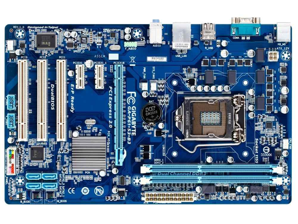 original motherboard for Gigabyte GA-P61-S3-B3 LGA 1155 DDR3 16GB USB2.0 P61-S3-B3 H61 Desktop motherboard Free shipping