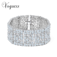 VOGUESS 16cm in Width Big Charm Bridal Bracelets Bangles Luxury Statement Exaggerate Bracelets for Women Wedding Pulseira