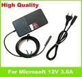 """Подлинная 12 В 3.6A 45 Вт Адаптер переменного тока Для Microsoft Surface RT Pro 1 2 10.6 """"Windows 8 Таблетки 1536 1601 США ЕС plug Шнур зарядное устройство"""