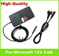 """Genuine 12V 3.6A 45W ac Adapter For Microsoft Surface RT Pro 1 2 10.6"""" Windows 8 Tablet 1536 1601 US EU plug Cord charger"""