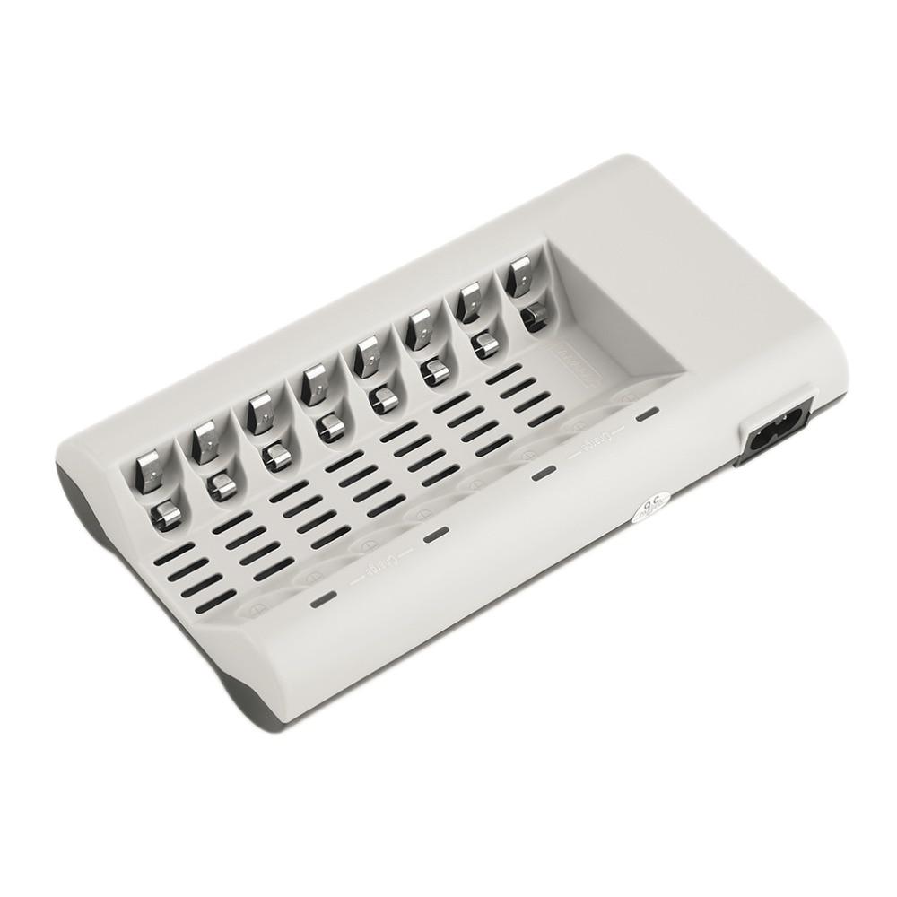 EU Plug 8 Slots Charger for AA / AAA Ni-MH / Ni-Cd Batteries Rechargeable Battery