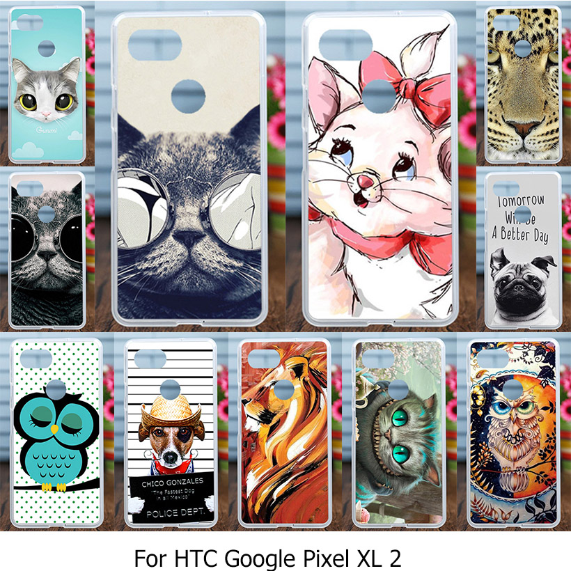 Silicone Cover Case For HTC Pixel XL 2 Google Pixel XL2 6.0 Inch Flexible Back Cover Case DIY Painted TPU Phone Bags