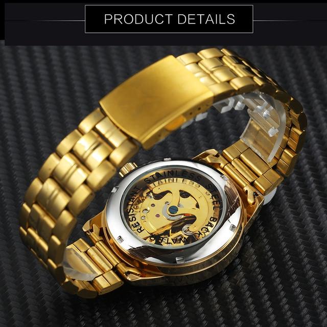 WINNER Men's Skeleton Dress Automatic Mechanical Watches 4