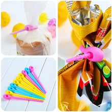 100% Food Grade Silicone Bag Ties Cable Management Zip Tie Twist All-purpose Multi-use Bag Clip Bread Tie Food Saver(China)