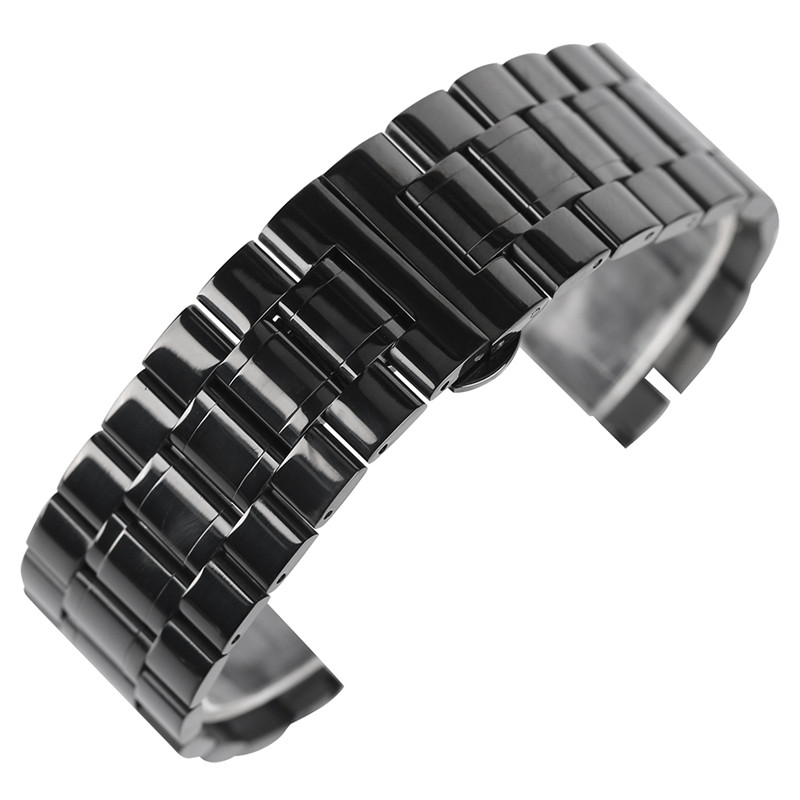 18mm 19mm 20mm 22mm 24mm 26mm 28mm Watchband Men Watches Replacement Stainless Steel Wrist Band Strap Black Bracelet 20mm 22mm 24mm men solid stainless steel watch band metal bracelets strap wrist watches replacement for men s women s wristwatch