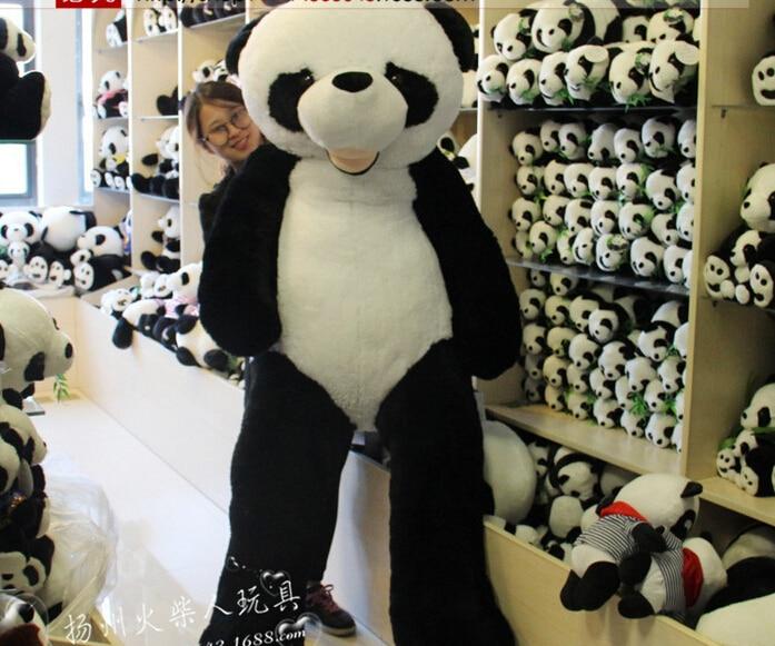 CHAUDE 180 cm en peluche panda peau manteau grand animal peau cadeaux d'anniversaire cadeaux De Noël jouets en peluche poupée - 6