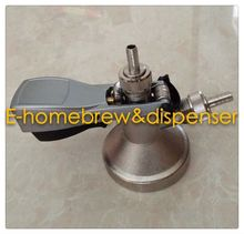Brass body and Stainless steel probe G type keg coupler,keg head with metal handle
