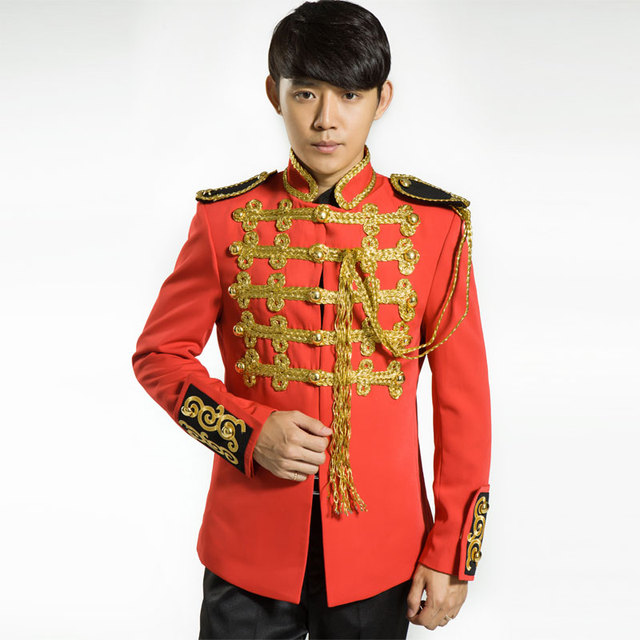 Male costume royal men's clothing annual meeting of company married clothes singer dancer stage show performance party prom bar