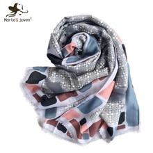 Marte&Joven Bohemian Style Printing Women Pashmina Shawls Fashion Female Spring Autumn Warm  Polyester Scarves Stoles Bufanda