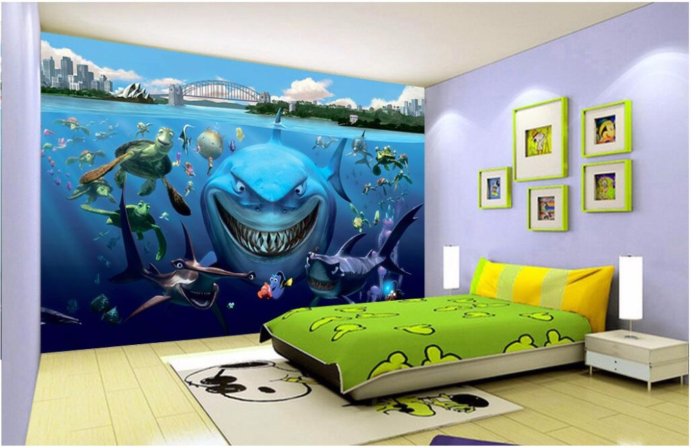 Custom mural 3d wallpaper picture sea world aquarium landscape room home decor painting 3d wall murals wallpaper for walls 3 d custom photo 3d wall murals wallpaper mountain waterfalls water decor painting picture wallpapers for walls 3 d living room