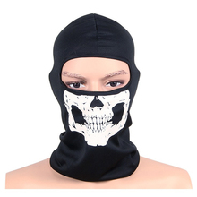 Unisex Ghost Masks Skullies Paintball Costume Halloween Mask Winter Windproof Mask Hat Neck Beanies  Men Women Balaclava Bonnet