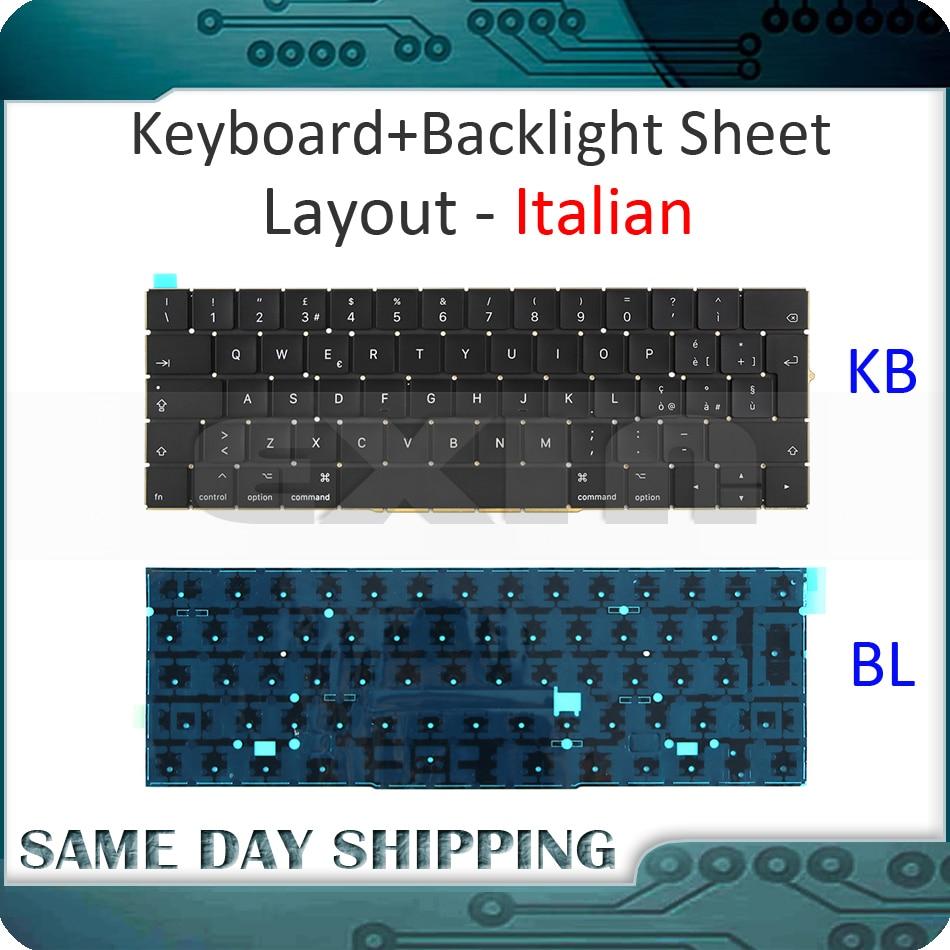 New for Macbook Pro Retina 15'' A1707 Italian Italy Ita. Keyboard w/ Backlight Backlit EMC3072 EMC3162 Late 2016 Mid 2017 Year new for macbook pro retina 13 a1708 keyboard italian italy ita keyboard backlight backlit replacement 2016 2017 year