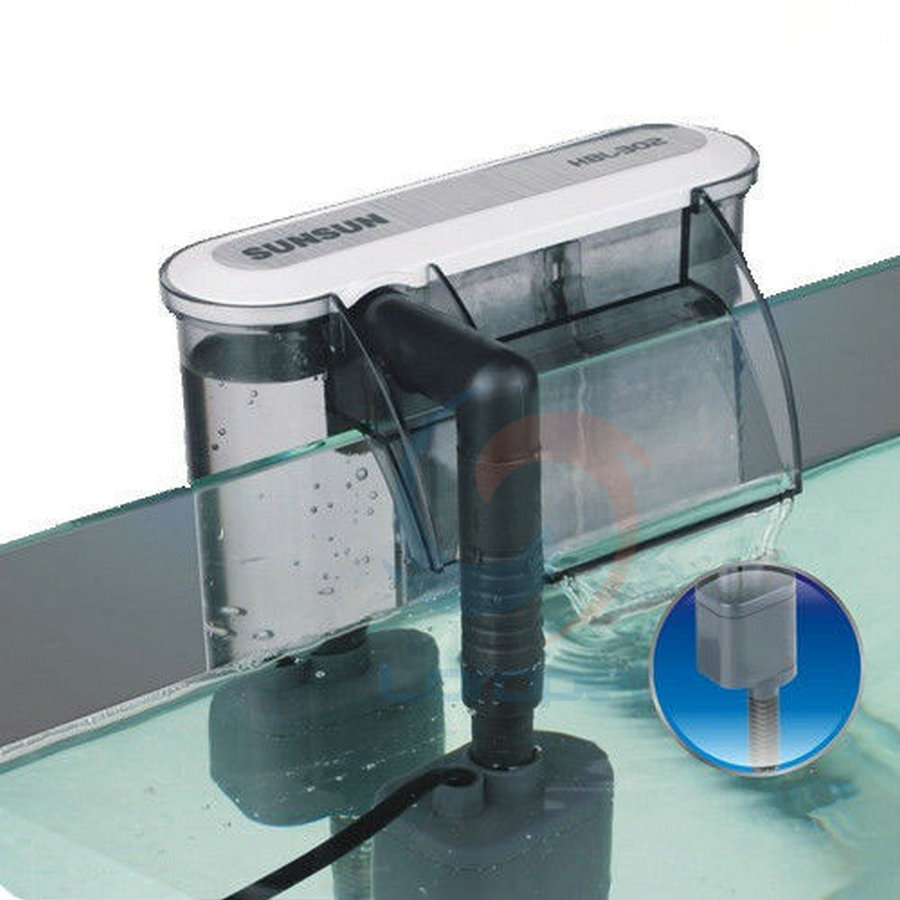 Aquarium fish tank external filter ef 1 1000l h - Sunsun Hbl 302 Hang On Back Hob Power Slim Filter 90gph Aquarium Fish Tank Canister
