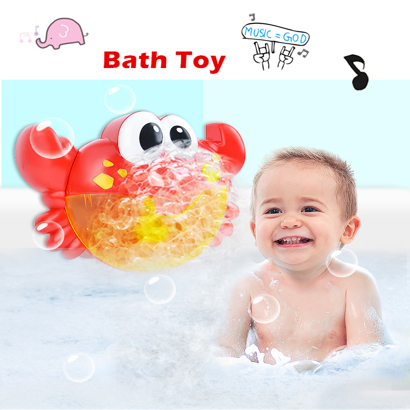 Bubble Crabs Baby Bath Toys Funny Bath Music Bubble Maker Bathtub Pool Swimming bathtub Soap Machine toys for Kids portable automatic electric bubble machine toys for kids