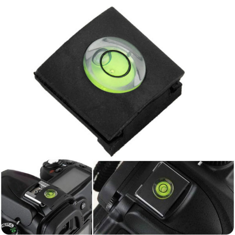 Camera Accessories Universal DSLR Camera Bubble Spirit Level + Hot Shoe Protector Cover For Nikon Canon Casio Fuji Samsung(China)