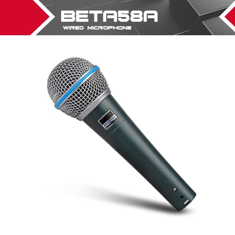 New High quality Studio BETA58 58A Clear Sound Handheld Wired Karaoke Microphone Mic
